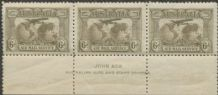 SG 139 ACSC 144A 1931 6d Airmail John Ash imprint strip of 3 (AG6/636)